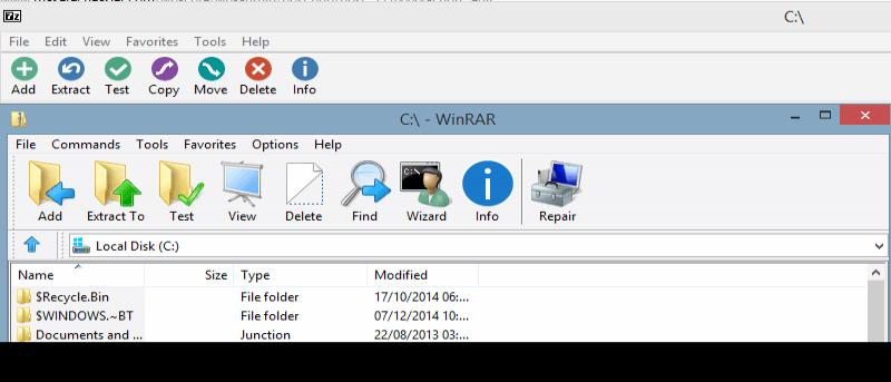 Tematizar fácilmente WinRAR y 7-Zip para una revisión visual total