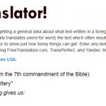 Un mal traductor revela el lado divertido (y terrible) de la traducción en línea [Fun Stuff].