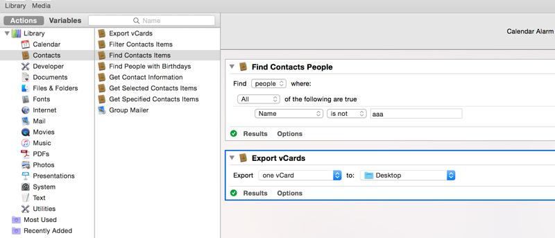 Cómo hacer una copia de seguridad automática de los contactos en OS X