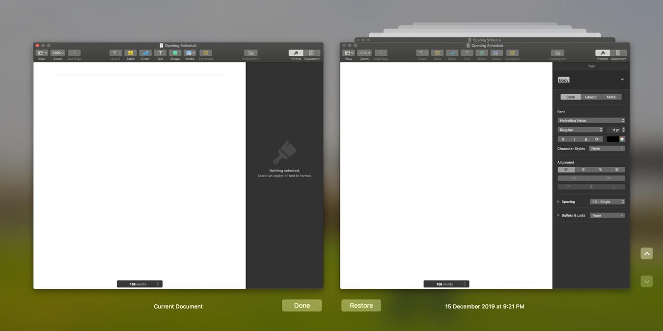 Cómo eliminar una versión de archivo de autoguardado en macOS