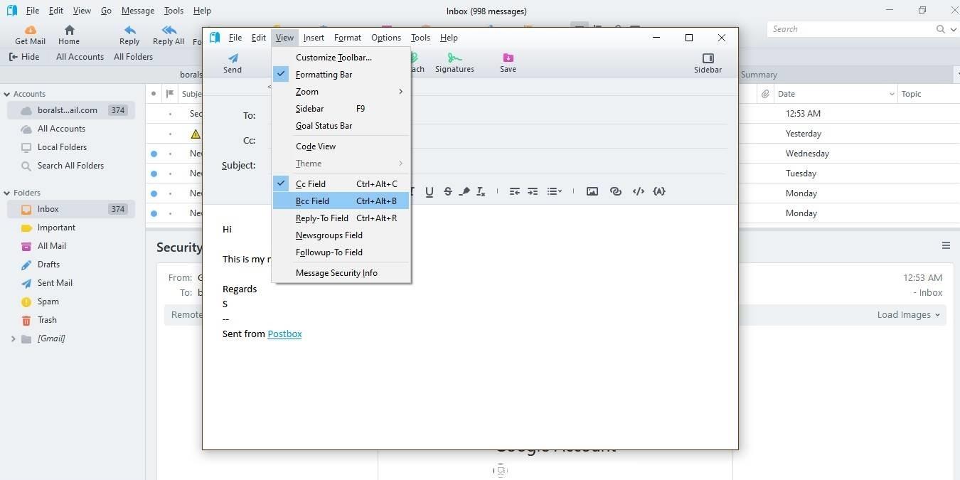 Gestione múltiples correos electrónicos e integraciones con el cliente de correo electrónico Postbox