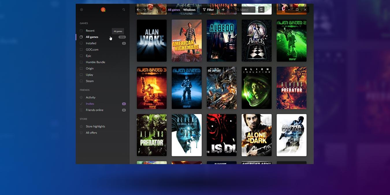 Gestione todos sus juegos en diferentes tiendas con GOG Galaxy 2.0