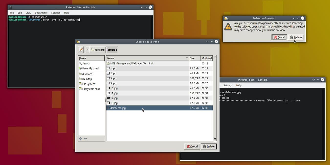 Cómo eliminar completamente un archivo en Linux
