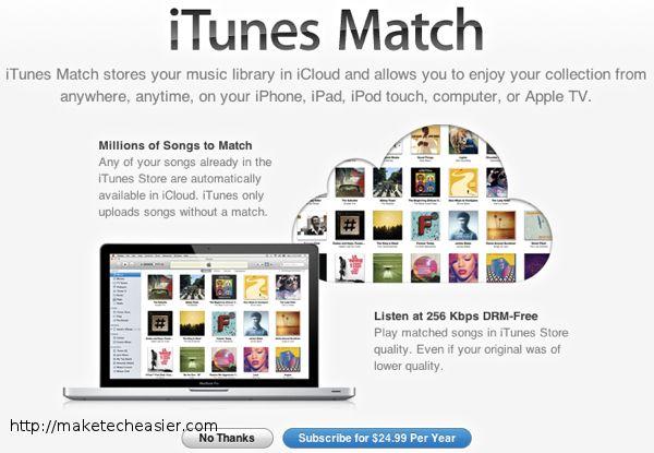 Mantenga su biblioteca de música sincronizada en varias computadoras con iTunes Match