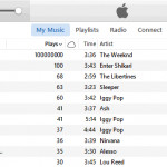 Ajustar el recuento de reproducciones en iTunes [Windows]