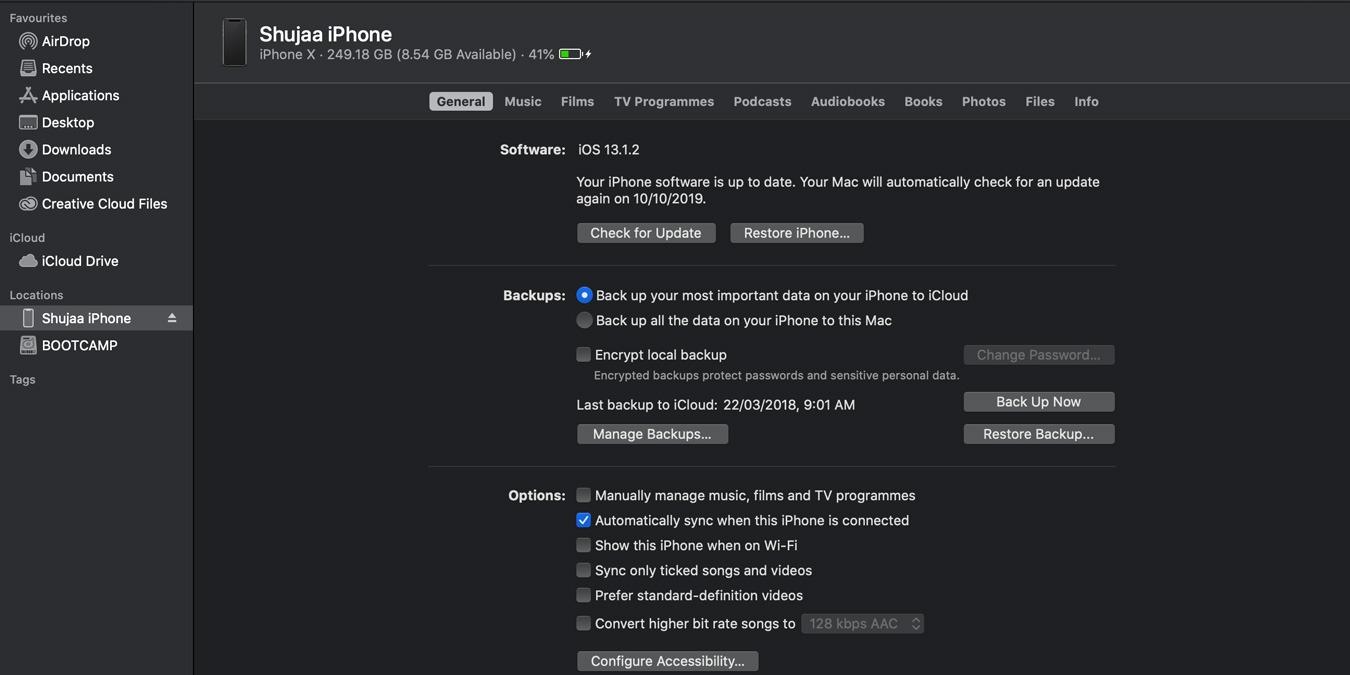 Cómo sincronizar su dispositivo iOS con macOS Catalina