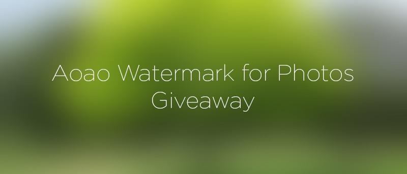 Marca de agua para fotos de Aoao: Ponga una marca de agua a sus fotos de forma rápida y sencilla