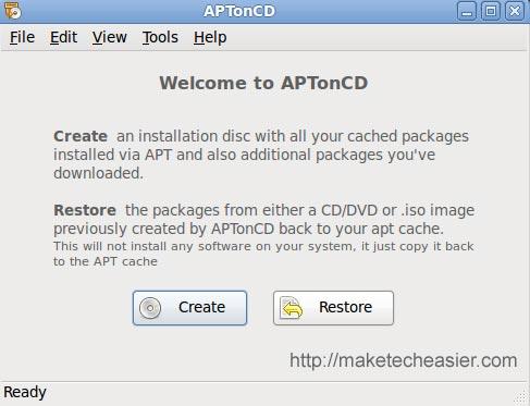 Cómo hacer una copia de seguridad e instalar sus aplicaciones Linux con AptOnCD