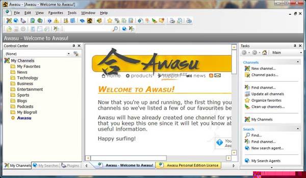 Vea instantáneamente miles de canales RSS con Awasu