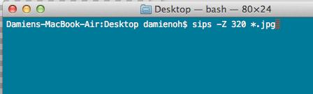 Redimensionar imágenes por lotes con este comando en Mac
