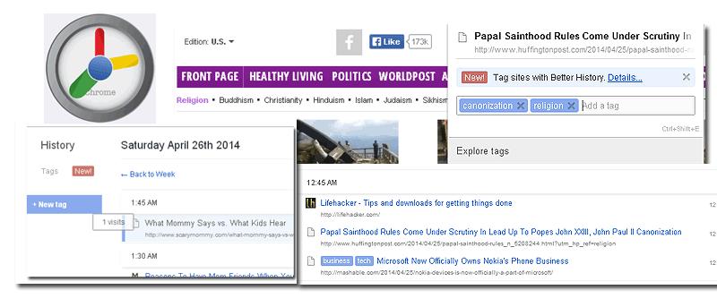 Cómo organizar el historial por etiquetas en Google Chrome
