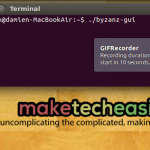 Grabar la pantalla como GIF animado en Ubuntu con Byzanz