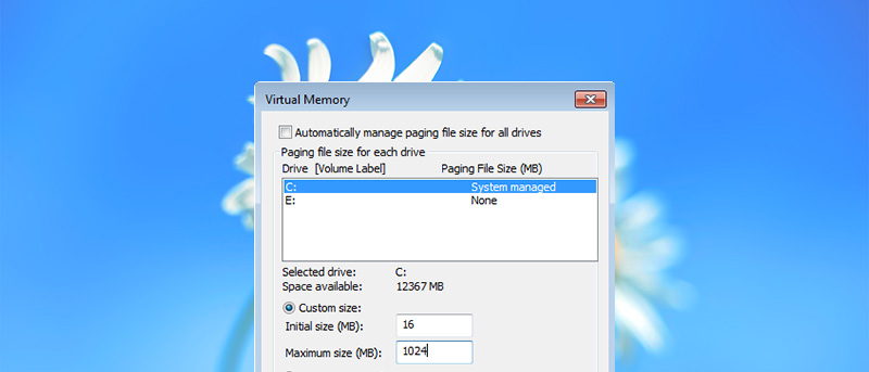 Cómo cambiar el tamaño y la ubicación del archivo de páginas en Windows