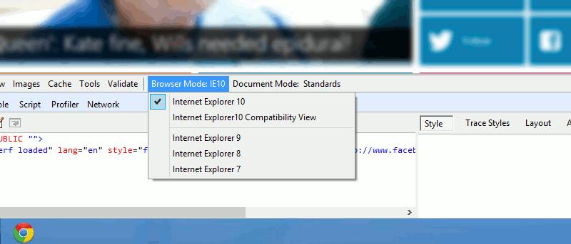 Cómo ver un sitio web en modo IE 7, 8 y 9 en Internet Explorer 10