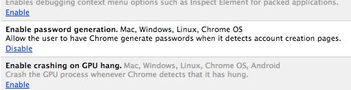 Generación automática de contraseñas en Google Chrome