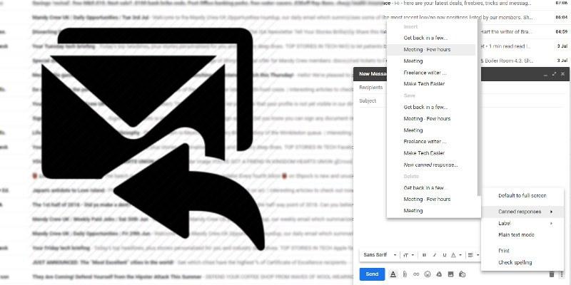 Cómo enviar respuestas enlatadas como respuestas automáticas en Gmail