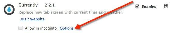 Reemplazar la página de la nueva pestaña con la hora y el tiempo [Chrome]