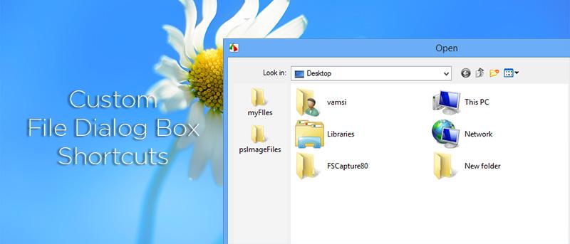 Cómo crear accesos directos personalizados en el cuadro de diálogo de archivos de Windows