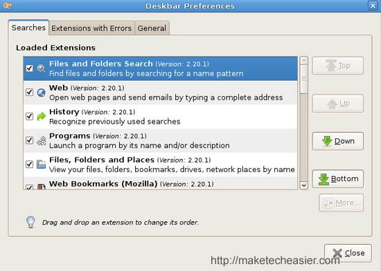 Utilizando el Applet Deskbar para hacer su vida más fácil