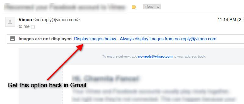 ¿No le gusta la nueva función de Gmail de mostrar siempre imágenes externas? Aquí se explica cómo desactivarla