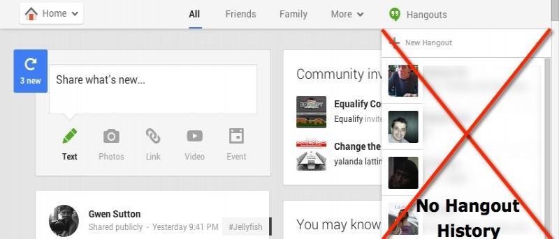 Cómo desactivar el historial de Hangouts a través de Google+