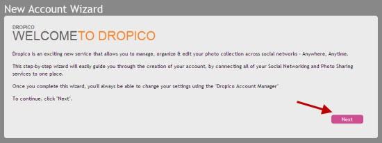 Dropico: cargue, comparta y administre fotos en múltiples redes sociales