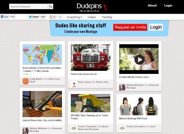 DudePins imita a Pinterest, planea ser el servicio similar para niños