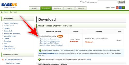 Haga una copia de seguridad fácil de su Windows con Easeus Todo Backup