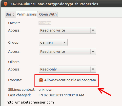 Cómo cifrar / descifrar fácilmente archivos en Ubuntu One