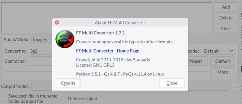 Convierta entre varios formatos de archivo en Linux con FF Multi Converter