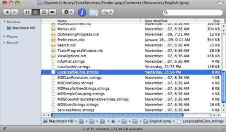 Cambiar las categorías de la barra lateral en Finder e iTunes