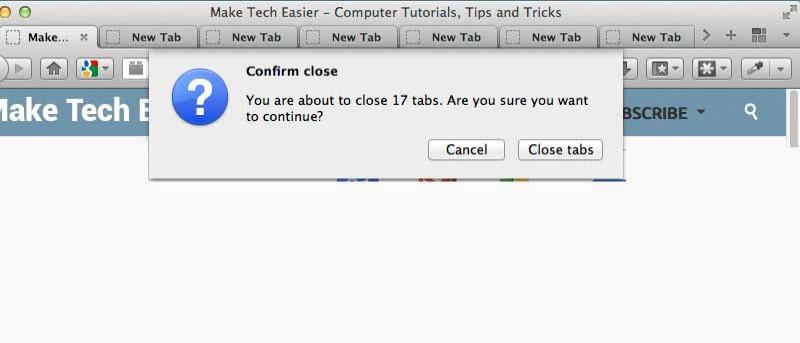 Cómo cerrar rápidamente varias pestañas en el navegador