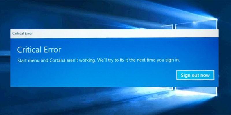 El menú de inicio no funciona en Windows 10? Aquí está cómo arreglarlo