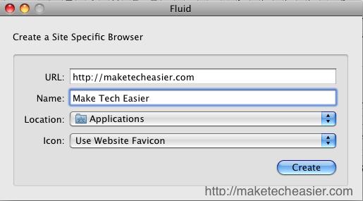 Fluido: un potente navegador específico del sitio para Mac OS X