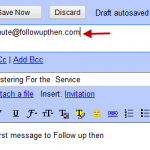 Cómo configurar recordatorios automáticos por correo electrónico utilizando FollowUpThen