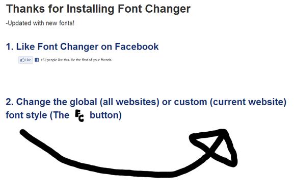Utilice las fuentes de Google para cualquier sitio web con la extensión Font Changer para Chrome