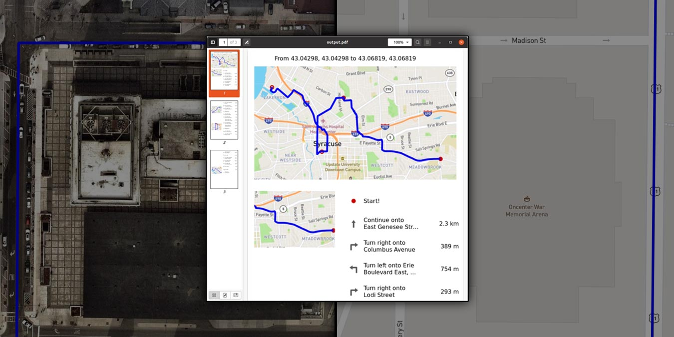 Cómo descargar los mapas de Gnome y exportar la ruta como PDF