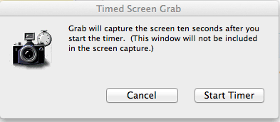 Hacer una captura de pantalla cronometrada en Mac