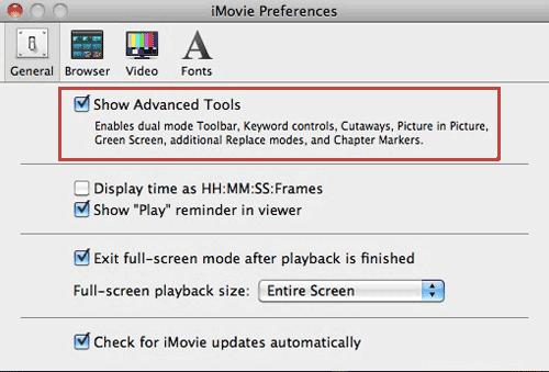 Cómo crear y editar películas utilizando una pantalla verde en iMovie$002709