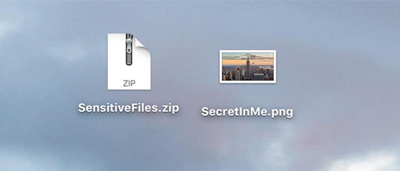 Cómo ocultar un archivo ZIP en un archivo de imagen en un Mac