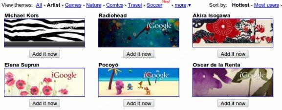 La página de inicio de Battle For Your Browser: iGoogle vs. Netvibes vs. Copos de página