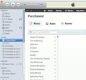 Descargando canciones a iTunes de compras anteriores
