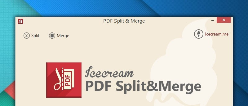 Dividir y fusionar fácilmente PDF en Windows con PDF Split & Merge