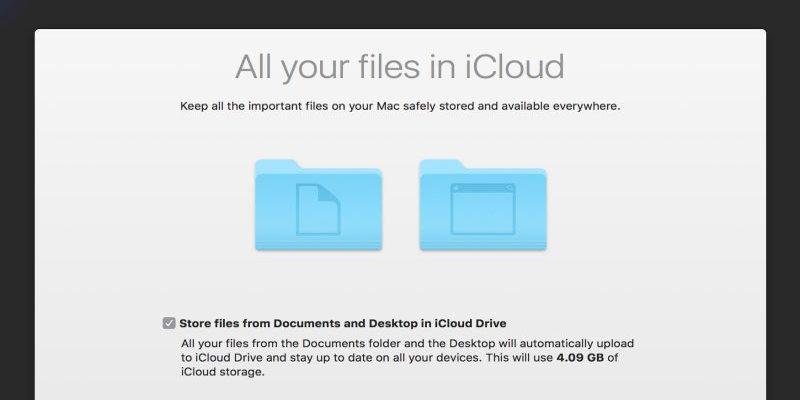 Cómo solucionar los problemas de sincronización de escritorio y documentos de iCloud en macOS Sierra