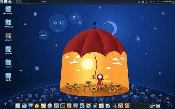Cómo obtener una barra de tareas similar a un muelle en KDE con tareas de icono