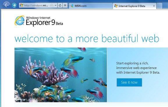 Revisión de Internet Explorer 9 Beta