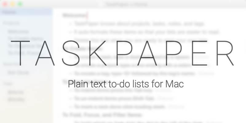 Cómo convertir un texto plano en un potente sistema de gestión de tareas con TaskPaper