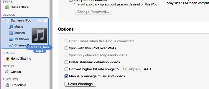 Transferir música al iPhone sin añadirla a la biblioteca de iTunes