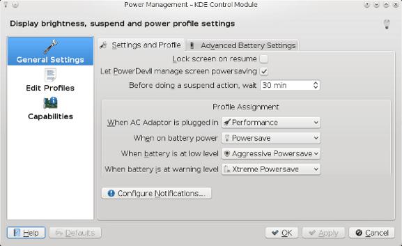 KDE 101 Power Management