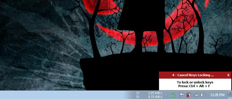 KeyFreeze - Una sencilla aplicación para bloquear el teclado y el ratón sin bloquear la pantalla